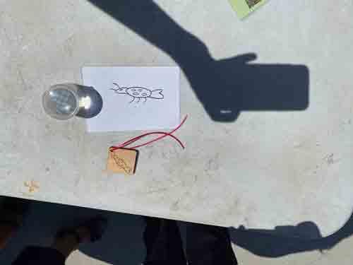 Création à la découpe laser réalisé par un enfant